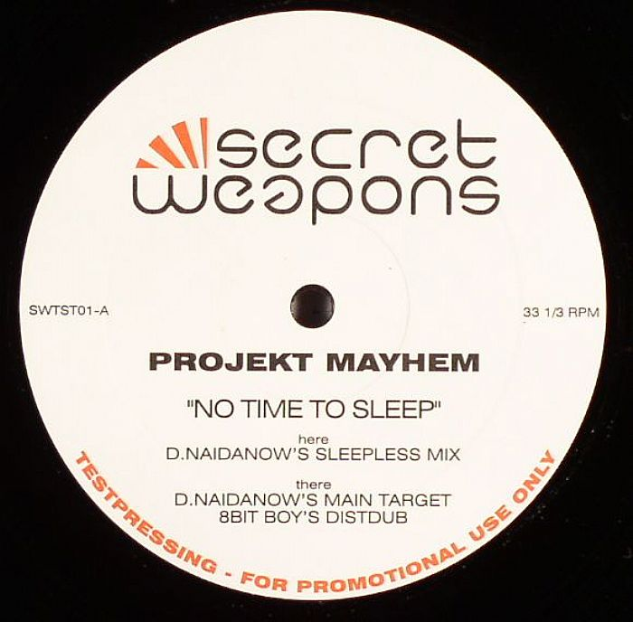 NO TIME TO SLEEP  12″ 2003 REMIX