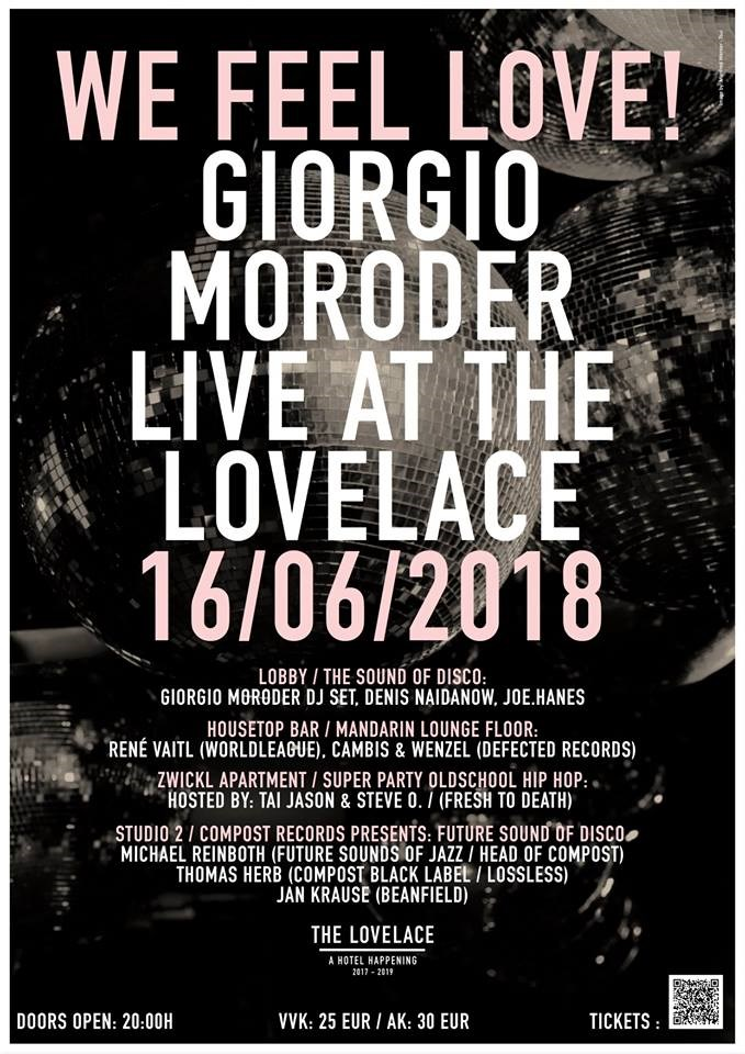 We Feel Love. Giorgio Moroder Live at The Lovelace